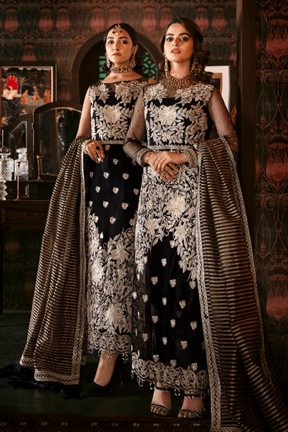 Imrozia Embroidered Net Unstitched 3pcs Suit 2020 Collection IMPC20 105 Moonlight Enigma