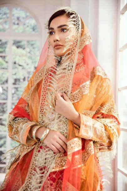 Maryum N Maria Unstitched Net Bridal 2020 Collection MNMB20 D-02 VERMILLION