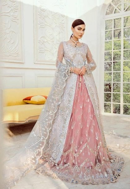 Maryum N Maria Unstitched Net Bridal 2020 Collection MNMB20 D-04 ROSE BUD