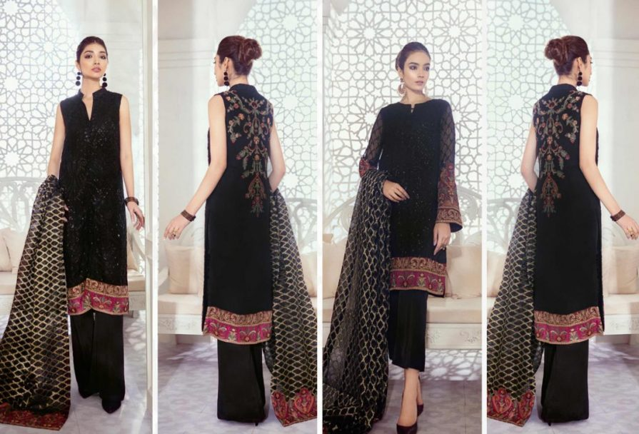 Iznik Embroidered Chiffon Imperial Dreams Unstitched 3 Piece Suit ID-01 2020 Luxury Collection