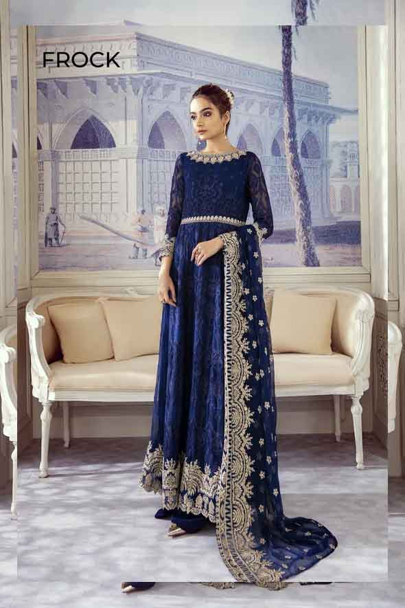 Iznik Embroidered Chiffon Imperial Dreams Unstitched 3 Piece Suit ID-03 2020 Luxury Collection