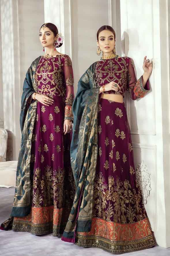 Iznik Embroidered Chiffon Imperial Dreams Unstitched 3 Piece Suit ID-05 2020 Luxury Collection