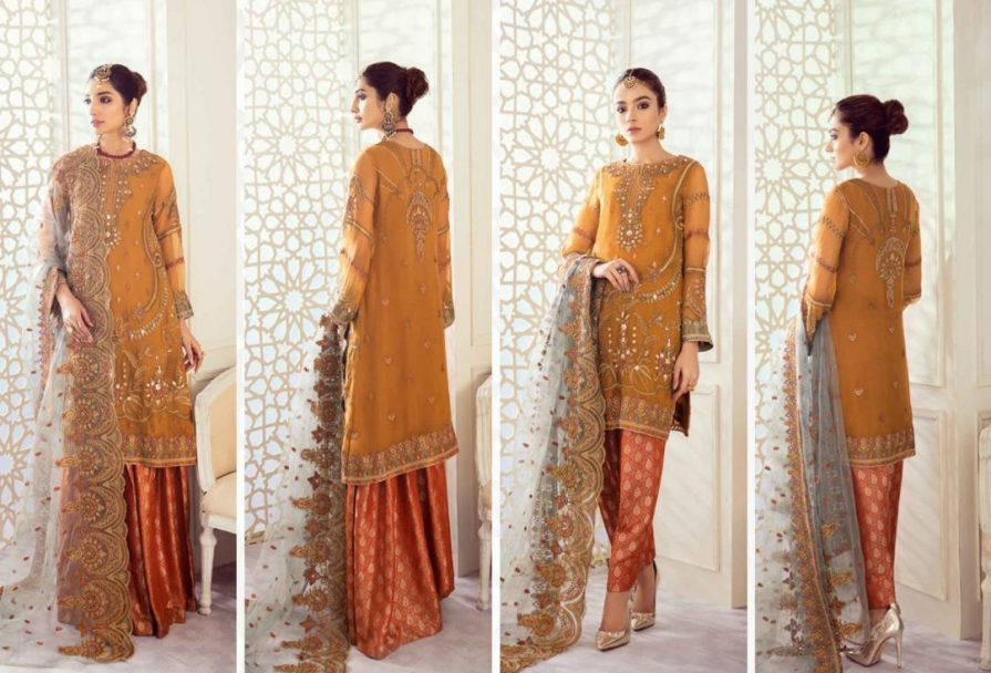 Iznik Embroidered Chiffon Imperial Dreams Unstitched 3 Piece Suit ID-07 2020 Luxury Collection