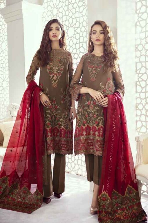 Iznik Embroidered Chiffon Imperial Dreams Unstitched 3 Piece Suit ID-08 2020 Luxury Collection