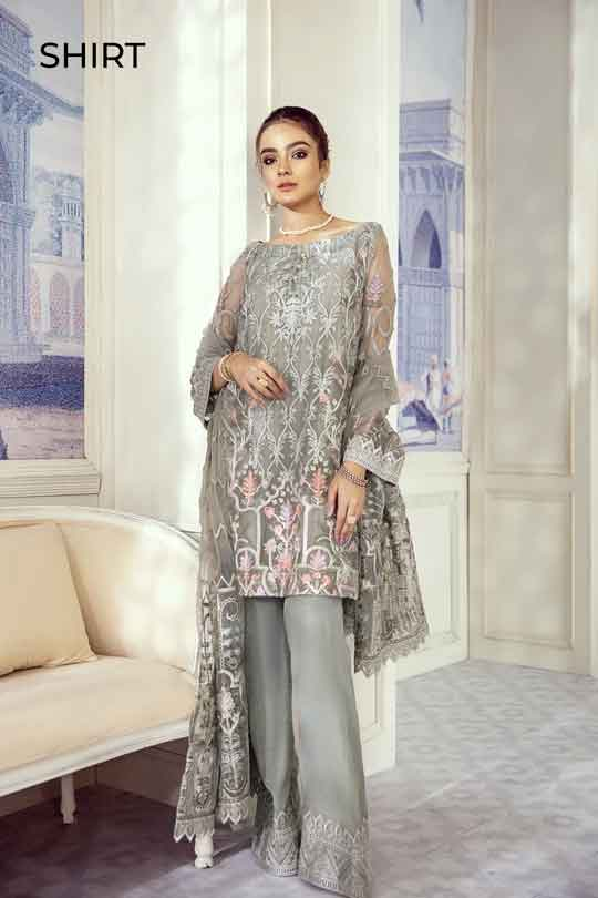 Iznik Embroidered Chiffon Imperial Dreams Unstitched 3 Piece Suit ID-09 2020 Luxury Collection