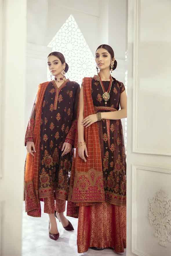 Iznik Embroidered Chiffon Imperial Dreams Unstitched 3 Piece Suit ID-10 2020 Luxury Collection