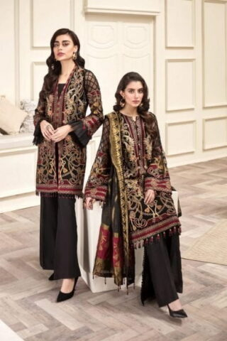 Jazmin Amerrati Chiffon Unstitched 3 Piece Suit JAC20 05 Luxury Collection