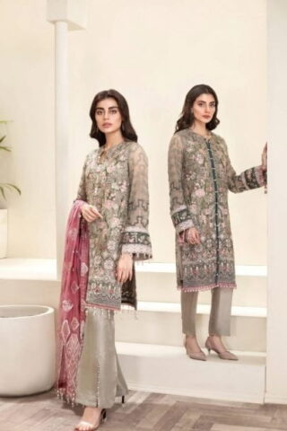 Jazmin Amerrati Chiffon Unstitched 3 Piece Suit JAC20 08 Luxury Collection