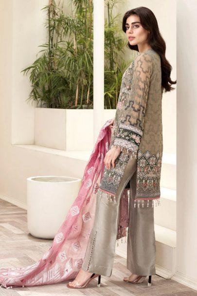 Jazmin Amerrati Chiffon Unstitched 3 Piece Suit JAC20 08 Luxury Collection