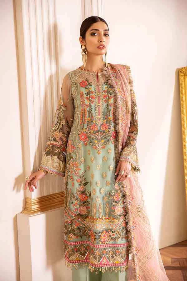 Baroque Chantelle Embroidered Net Unstitched 3 Piece Suit BC20-01 2020 Luxury Collection