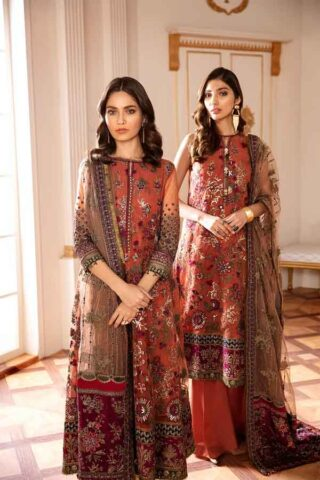 Baroque Chantelle Embroidered Net Unstitched 3 Piece Suit BC20-03 2020 Luxury Collection