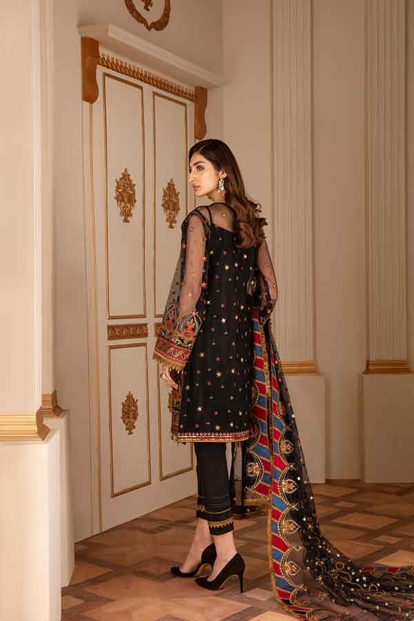 Baroque Chantelle Embroidered Net Unstitched 3 Piece Suit BC20-04 2020 Luxury Collection