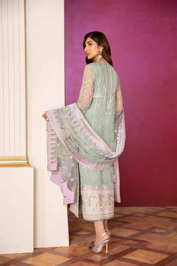 Baroque Chantelle Embroidered Chiffon Unstitched 3 Piece Suit BC20-05 2020 Luxury Collection