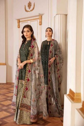Baroque Chantelle Embroidered Chiffon Unstitched 3 Piece Suit BC20-08 2020 Luxury Collection