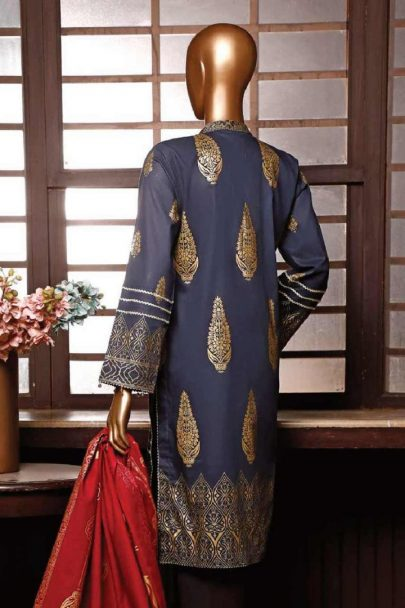 Moosa Jee Banarsi Block Printed Unstitched 3 Piece Suit 2020 107B
