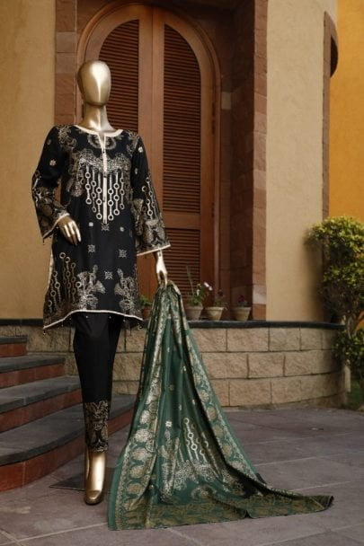 Moosa Jee Banarsi Block Printed Unstitched 3 Piece Suit 2020 108A