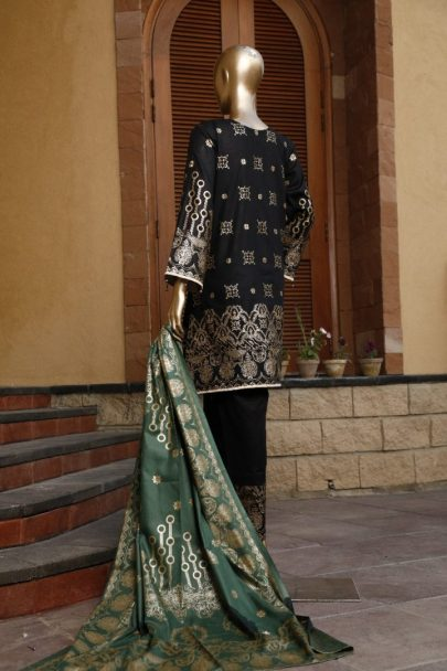 Moosa Jee Banarsi Block Printed Unstitched 3 Piece Suit 2020 108A