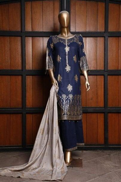 Moosa Jee Banarsi Block Printed Unstitched 3 Piece Suit 2020 111B