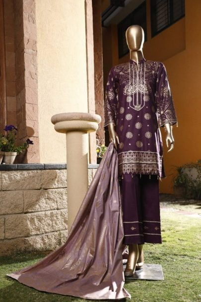 Moosa Jee Banarsi Block Printed Unstitched 3 Piece Suit 2020 112A