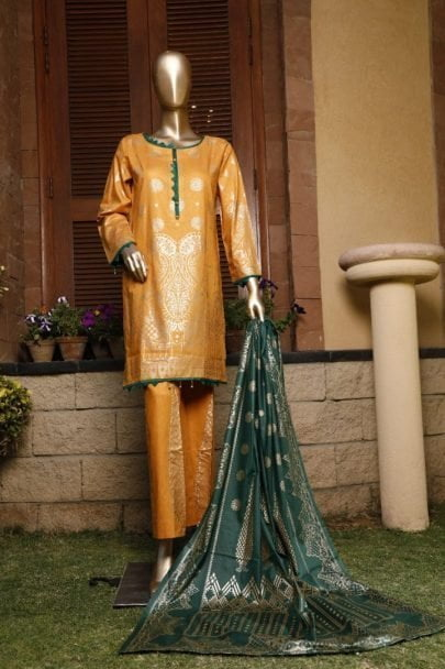 Moosa Jee Banarsi Block Printed Unstitched 3 Piece Suit 2020 112B