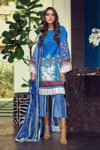 Sana Safinaz Muzlin Summer Collection Unstitched 3 Piece Suit SSM20 04B Lawn Collection