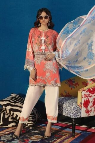 Sana Safinaz Muzlin Summer Collection Unstitched 3 Piece Suit SSM20 08B Lawn Collection