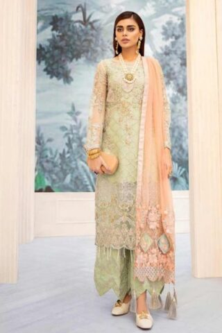 Nureh by Riaz Arts Embroidered Chiffon Unstitched 3 Piece Suit 2020 02