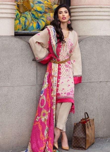 Farah Talib Aziz Luxury Lawn Unstitched 3 Piece Suit FTAL20-07 Lawn Collection