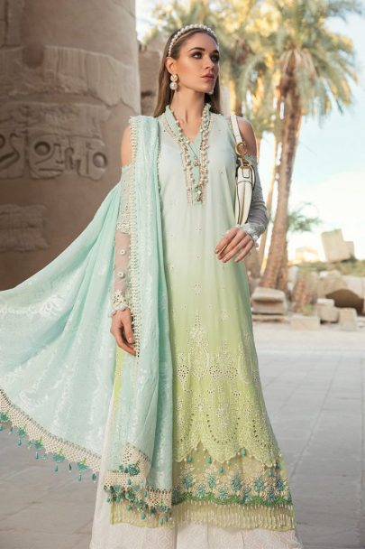 Maria B Luxury Lawn Unstitched 3 Piece Suit MBL20-2001B Lawn Collection