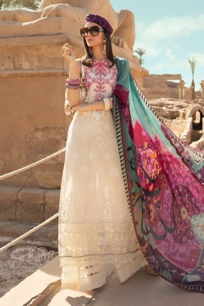 Maria B Luxury Lawn Unstitched 3 Piece Suit MBL20-2011A Lawn Collection