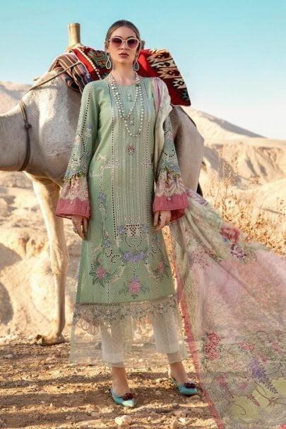 Maria B Luxury Lawn Unstitched 3 Piece Suit MBL20-2013A Lawn Collection