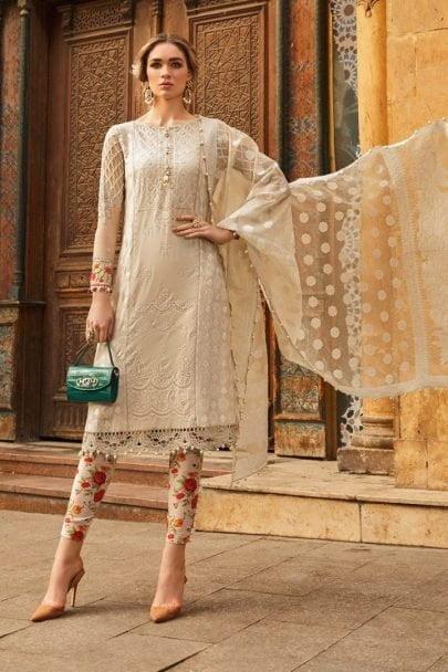 Maria B Luxury Lawn Unstitched 3 Piece Suit MBL20-2015A Lawn Collection