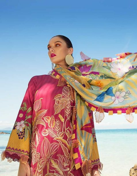 Rang Rasiya Luxury Lawn Unstitched 3 Piece Suit RRL-102 Lawn Collection