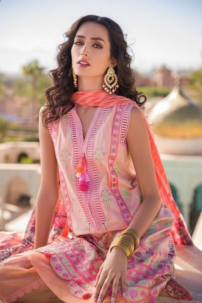 Sobia Nazir Vital Embroidered Lawn Unstitched 3 Piece Suit SNVL20-05A Lawn Collection