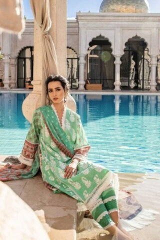 Sobia Nazir Vital Embroidered Lawn Unstitched 3 Piece Suit SNVL20-06B Lawn Collection