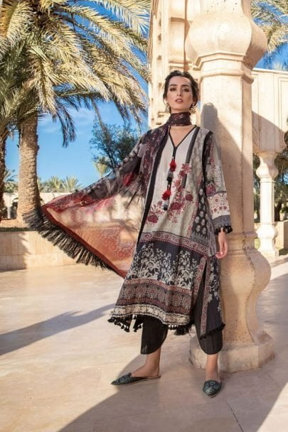 Sobia Nazir Vital Embroidered Lawn Unstitched 3 Piece Suit SNVL20-07A Lawn Collection