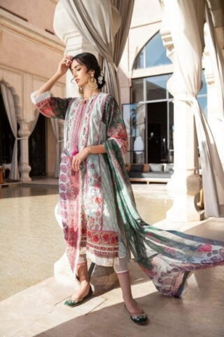 Sobia Nazir Vital Embroidered Lawn Unstitched 3 Piece Suit SNVL20-08A Lawn Collection