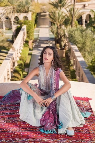 Sobia Nazir Vital Embroidered Lawn Unstitched 3 Piece Suit SNVL20-09B Lawn Collection