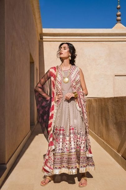 Sobia Nazir Vital Embroidered Lawn Unstitched 3 Piece Suit SNVL20-10A Lawn Collection