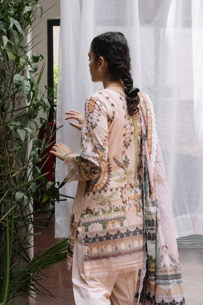 Qalamkar Qline Luxury Lawn Unstitched 3 Piece Suit QQL20-02 - Lawn Collection