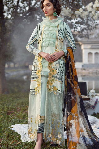 Asifa Nabeel Luxury Lawn Unstitched 3 Piece Suit ANL20-13-D - Summer Collection