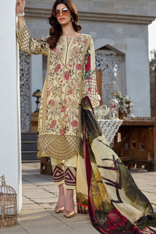 Asifa Nabeel Luxury Lawn Unstitched 3 Piece Suit ANL20-33-S - Summer Collection