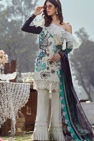 Asifa Nabeel Luxury Lawn Unstitched 3 Piece Suit ANL20-45-M - Summer Collection