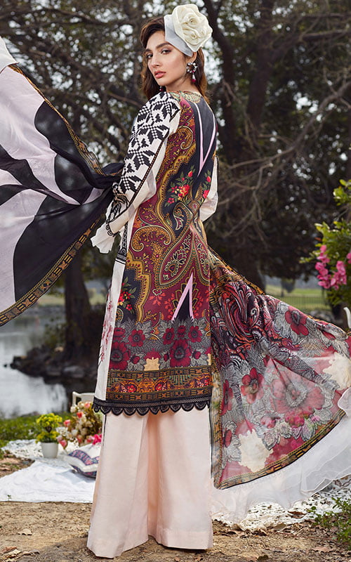Asifa Nabeel Luxury Lawn Unstitched 3 Piece Suit ANL20-50-K – Summer Collection