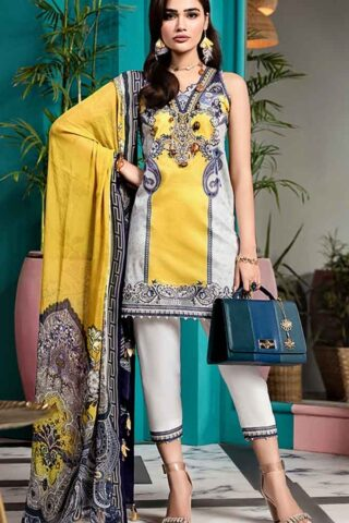 Viva by Anaya Embroidered Lawn Unstitched 3 Piece Suit AVL20-06-A - Summer Collection