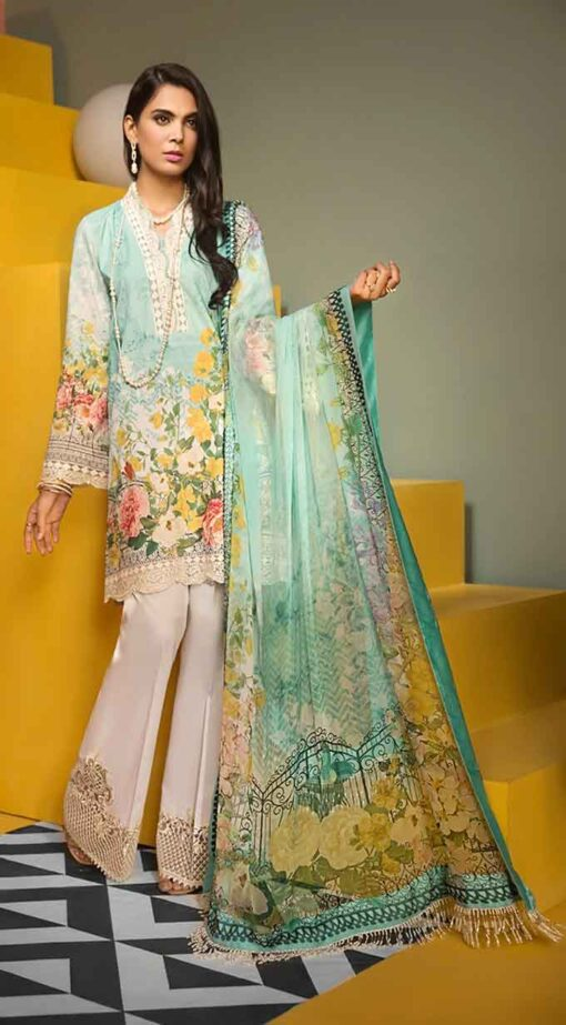 Viva by Anaya Embroidered Lawn Unstitched 3 Piece Suit AVL20-08-A – Summer Collection