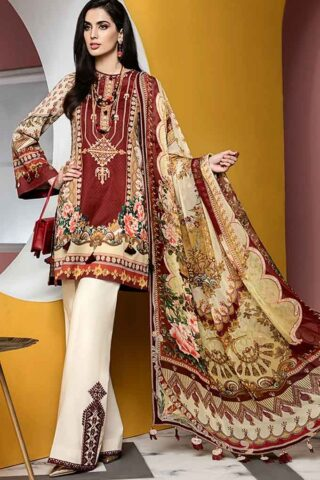 Viva by Anaya Embroidered Lawn Unstitched 3 Piece Suit AVL20-09-A - Summer Collection