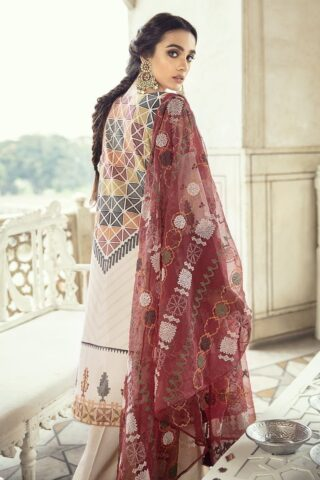 Sheesh Mahal by Cross Stitch Embroidered Lawn Unstitched 3 Piece Suit CSL20 02 Redwood Charm – Lawn Collection
