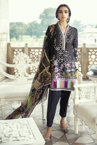 Sheesh Mahal by Cross Stitch Embroidered Lawn Unstitched 3 Piece Suit CSL20 03 Merlot Dream - Lawn Collection