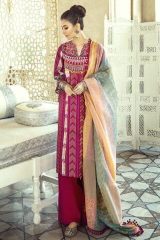 Sheesh Mahal by Cross Stitch Embroidered Lawn Unstitched 3 Piece Suit CSL20 05 Kashmiri Crewel - Lawn Collection